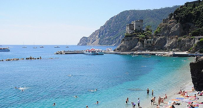A beautiful beach in the Cinque Terre National Park