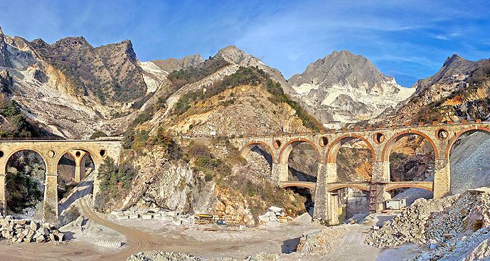 The Marble Quarries of Carrara, near Florence