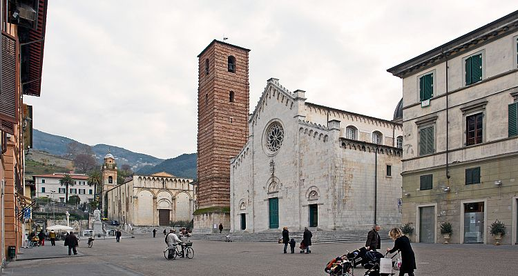 A view of Pietrasanta, a charming town in Tuscany