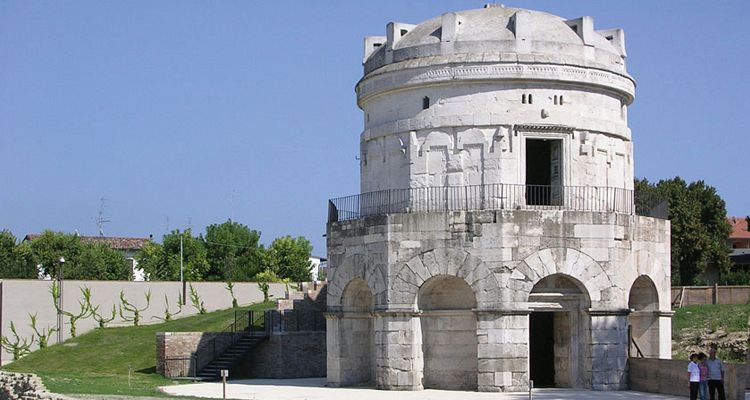 The Mausoleo of Teodorico in Ravenna, Italy