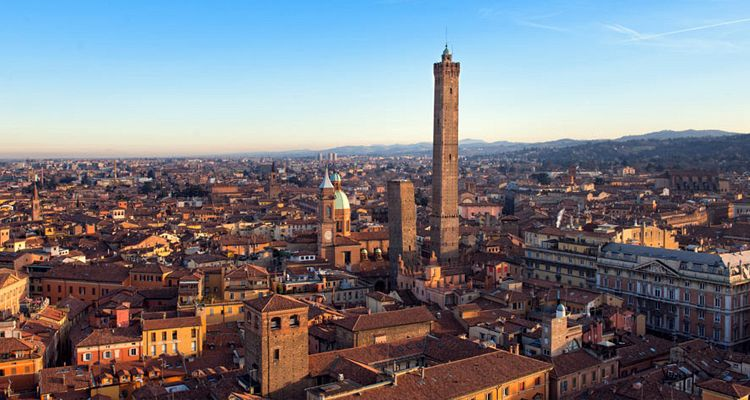 Tower of Bologna (Italy) and the Panoramic view