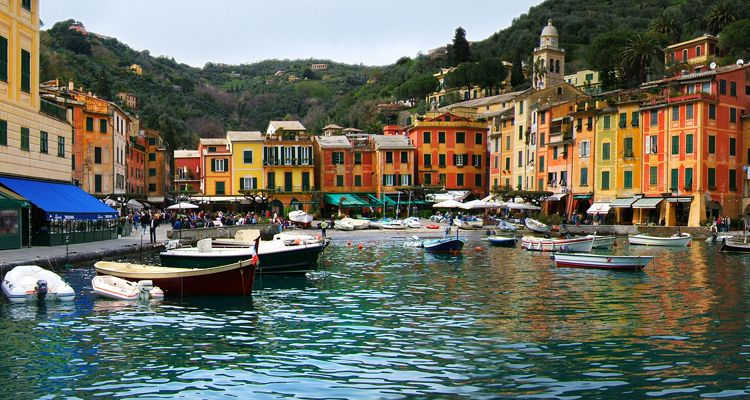 Portofino, Liguria, one of the oldest resort areas of Italy