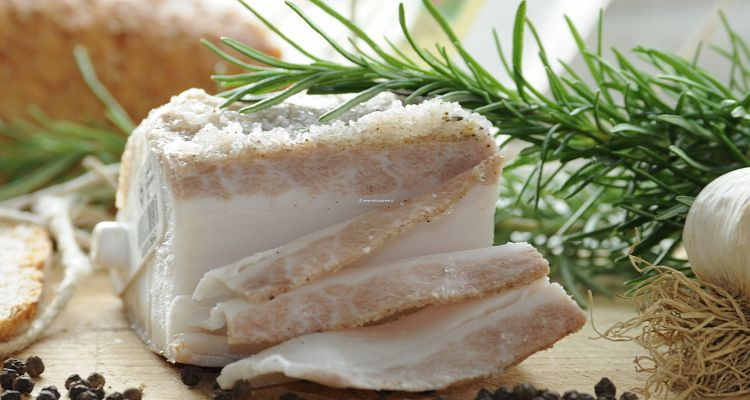 The gourmand Lard of Colonnata, Italian Typical Food