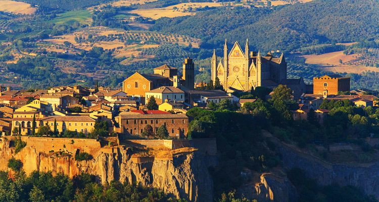 Orvieto, Umbria: top view of the cathedral