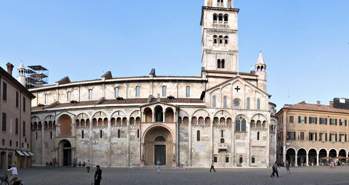 The Piazza Grande of Modena - Italy