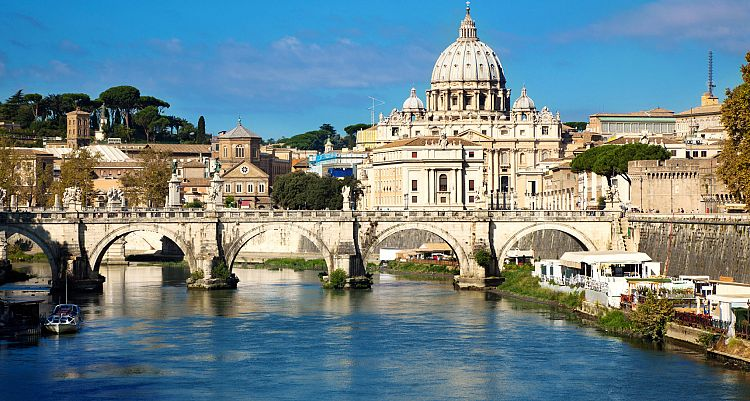 A view of the Vatican City in Rome, Italy