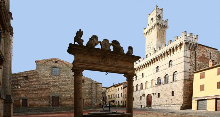 View of the main square of Montepulciano, Tuscany
