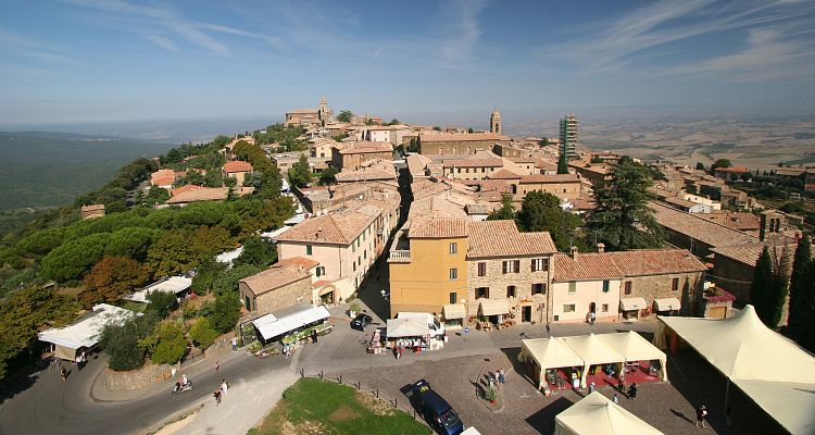 A top view of Montalcino, near Siena, Tuscany