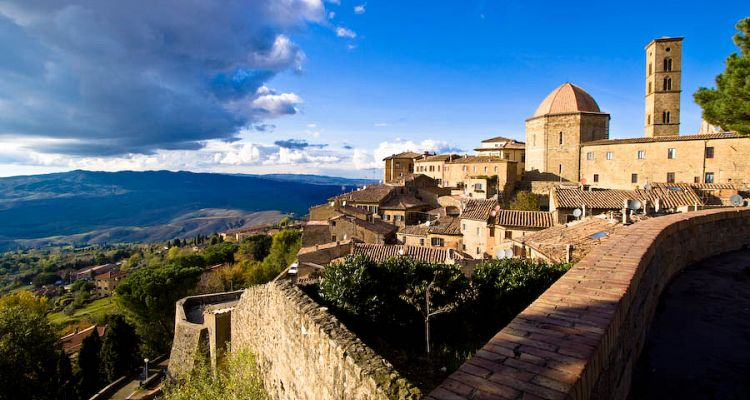 A view of Volterra, the famous medieval town near Pisa, Italy